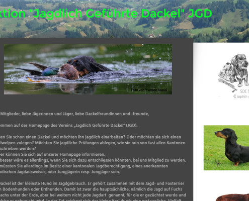 Website Jagdliche Sektion